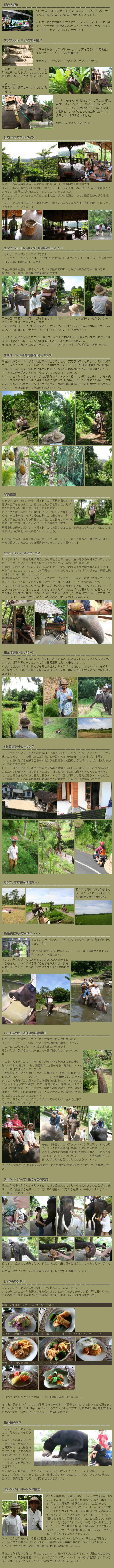 バリ・エレファント・キャンプ 体験ルポの説明1