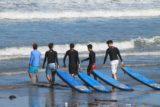 サーフスクール海練習