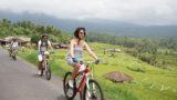 サイクリング中