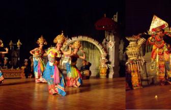クマンギレストランのバリ舞踊ショー