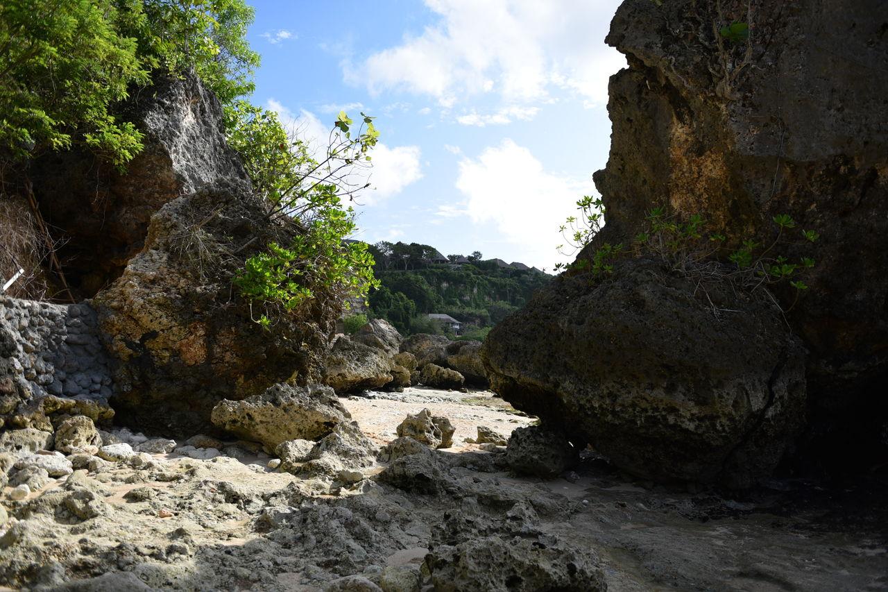 ビーチのワイルド岩