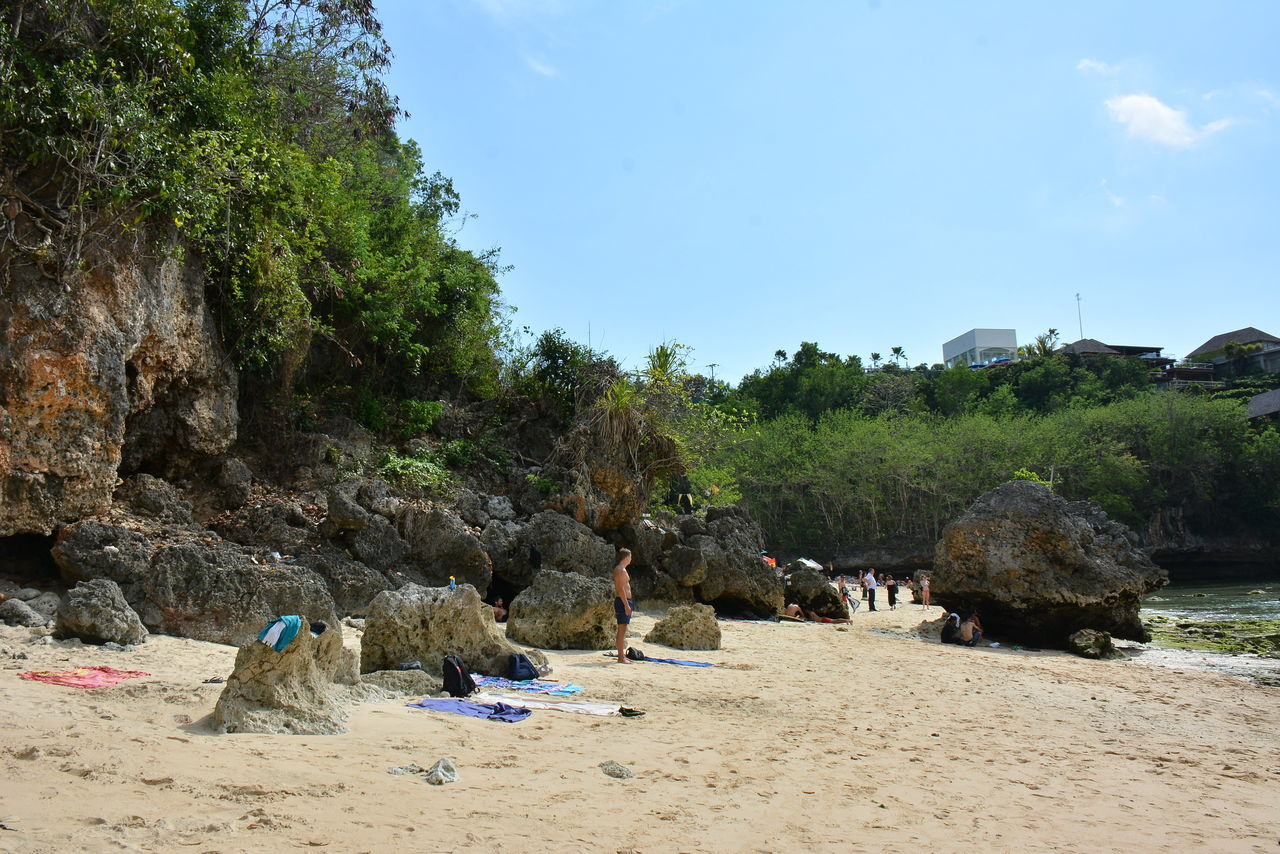 ビーチの岩たち