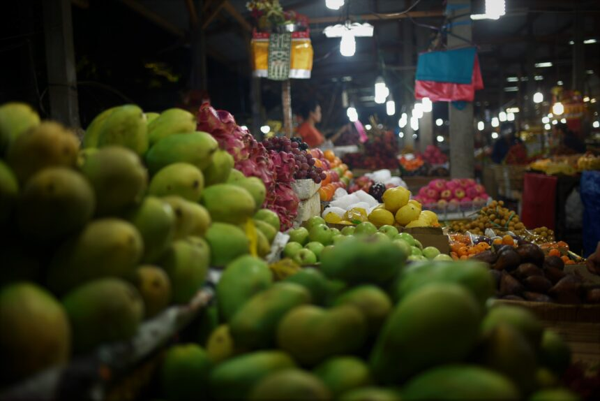 市場のフルーツ